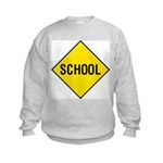 School Sign Kids Sweatshirt