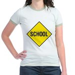 School Sign Jr. Ringer T-Shirt