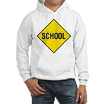School Sign Hooded Sweatshirt