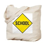 Yellow School Sign - Tote Bag