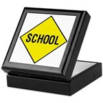 Yellow School Sign - Keepsake Box