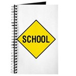 Yellow School Sign - Journal