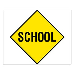 Yellow School Sign - Posters