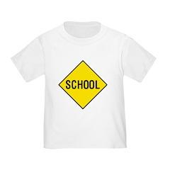 Yellow School Sign - T