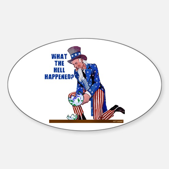 Distressed Uncle Sam Oval Decal