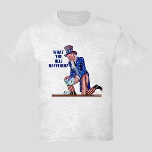 Distressed Uncle Sam Kids Light T-Shirt