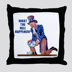 Distressed Uncle Sam Throw Pillow