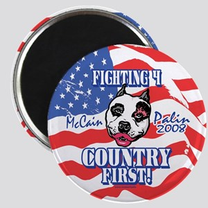 Country First Palin Pit Bull Magnet