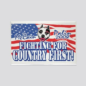 Country First Palin Pit Bull Rectangle Magnet