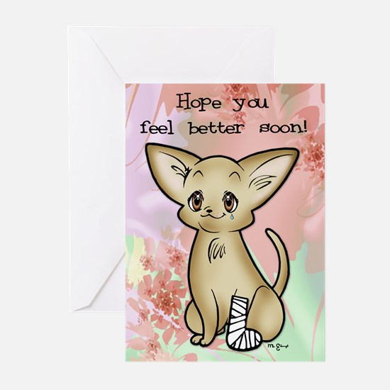 Get Well Chihuahua Greeting Cards (Pk of 20)
