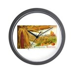 Hearty Thanksgiving Greetings Wall Clock