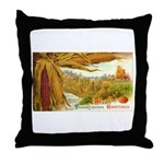 Hearty Thanksgiving Greetings Throw Pillow