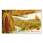 Hearty Thanksgiving Greetings Rectangle Sticker