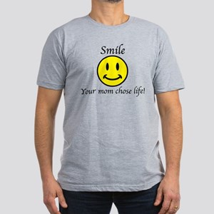 Smile Jesus Men's Fitted T-Shirt (dark)