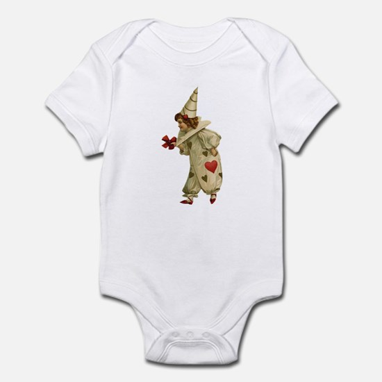 Valentine Clown 2 Infant Bodysuit