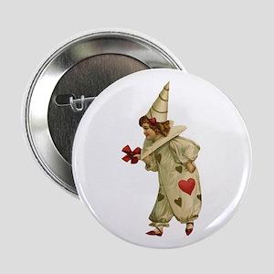 """Valentine Clown 2 2.25"""" Button"""