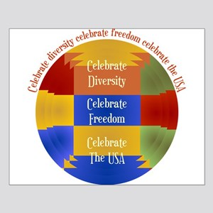 Diversity, Freedom and The USA Small Poster