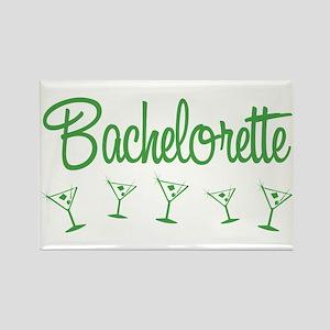 Green Multi Bachelorette Rectangle Magnet