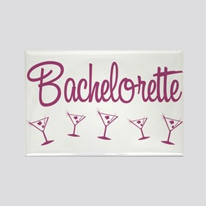 Pink Multi Bachelorette Rectangle Magnet