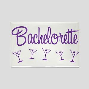 Purple Multi Bachelorette Rectangle Magnet