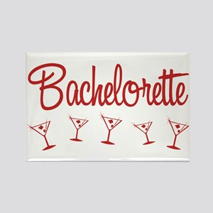 Red Multi Bachelorette Rectangle Magnet