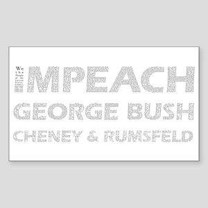 Constitutional Impeach Bush Rectangle Sticker