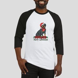 Poinsettia Rottweiler Baseball Jersey
