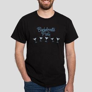 Blue Multi Bachelorette Party Dark T-Shirt