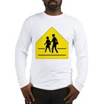 School Crossing Sign Long Sleeve T-Shirt