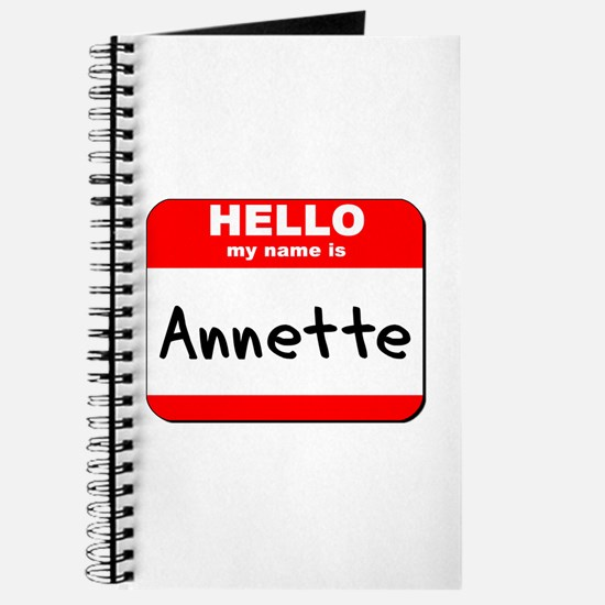 Hello my name is Annette Journal