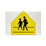 School Crossing Sign - Rectangle Magnet (10 pack)