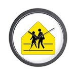 School Crossing Sign - Wall Clock