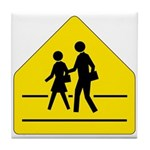 School Crossing Sign - Tile Coaster