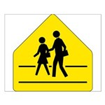 School Crossing Sign - Small Poster