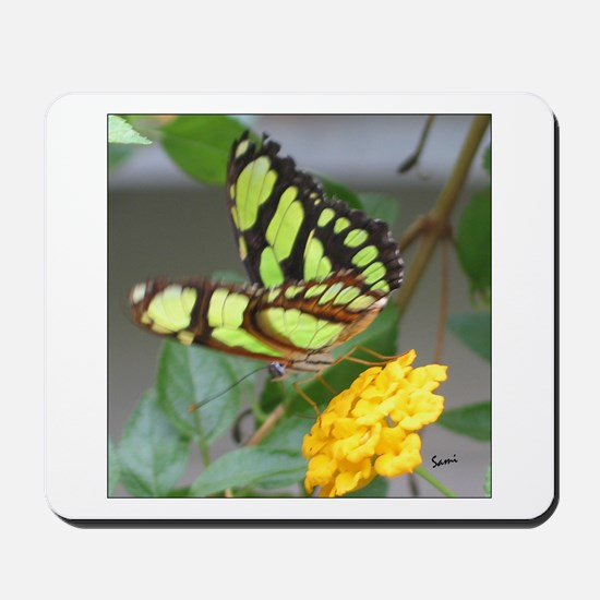 Yellowish Green Butterfly Mousepad