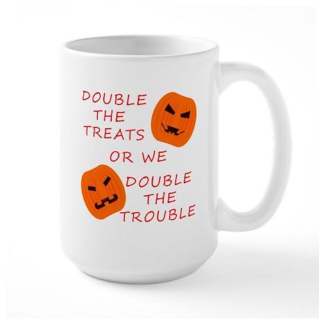 Double Tricks or Treats Large Mug