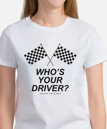 Checker Flag Driver Women's T-Shirt