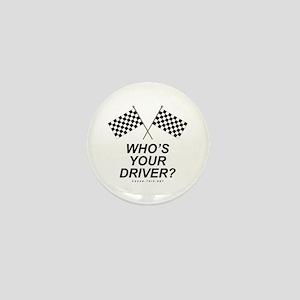 Checker Flag Driver Mini Button