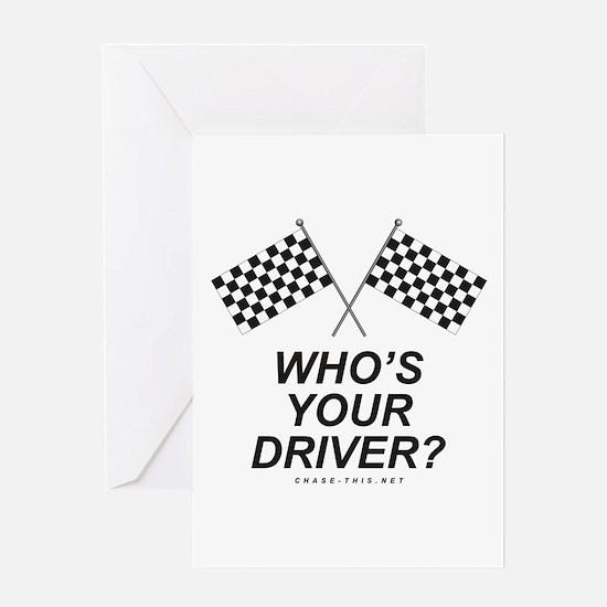 Checker Flag Driver Greeting Card