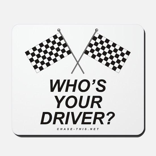 Checker Flag Driver Mousepad