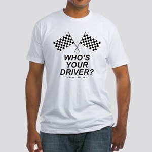 Checker Flag Driver Fitted T-Shirt