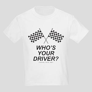 Checker Flag Driver Kids Light T-Shirt