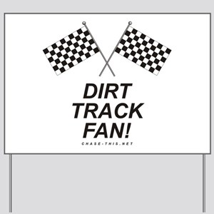 Checker Flag Dirt Yard Sign