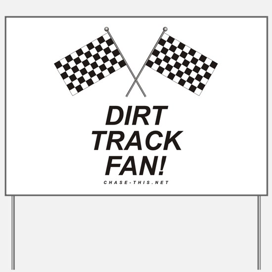 Checker Flag Dirt Yard Sign