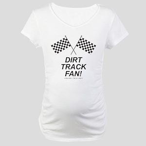 Checker Flag Dirt Maternity T-Shirt