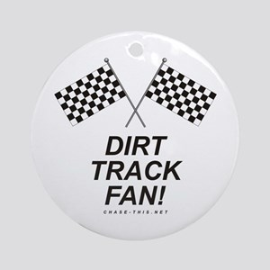 Checker Flag Dirt Ornament (Round)