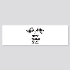 Checker Flag Dirt Bumper Sticker