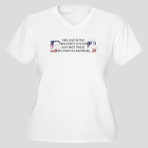 New Politics Women's Plus Size V-Neck T-Shirt