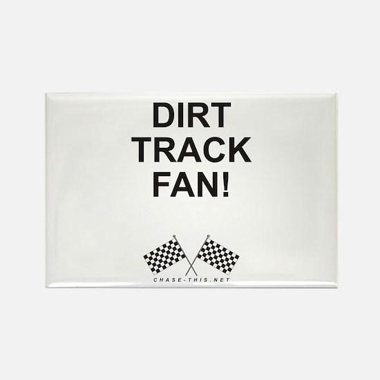 Checker Flag Dirt Rectangle Magnet