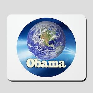 Obama Blue Earth Mousepad